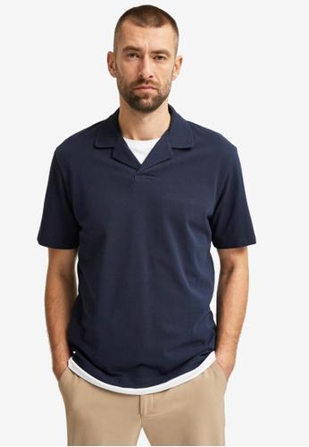 Selected Homme navy Regatlas Polo G Shirt 0D459AAC37CB72GS_1