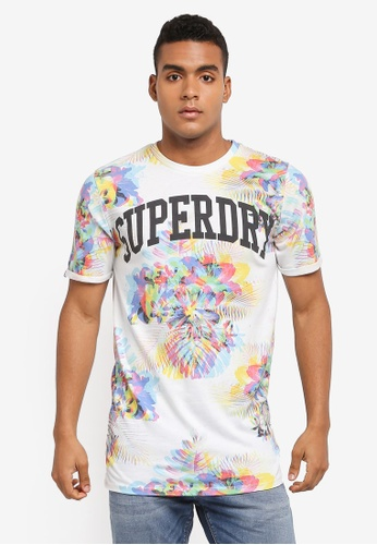 Superdry white VARSITY LONG LINE TEE 43005AAFDCE401GS_1