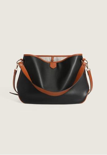 Lara black Women's Minimalist PU Leather Handbag Cross-body Bag - Black 15DCFAC37FA033GS_1