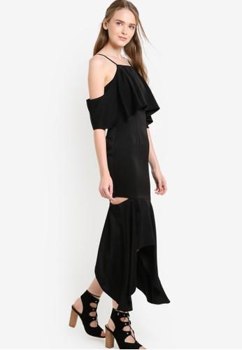 荷葉飾挖肩魚尾連身長裙, 服飾, esprit暢貨中心洋裝