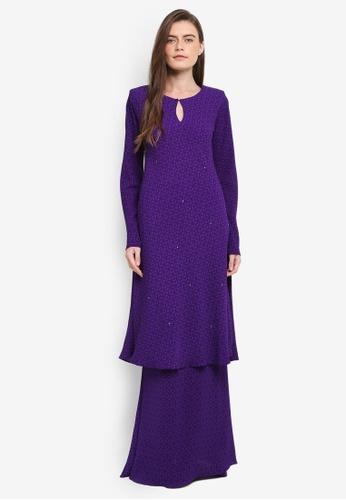 Zuco Fashion purple Mini Kurung Chiffon Mermaid ZU882AA0SXV7MY_1