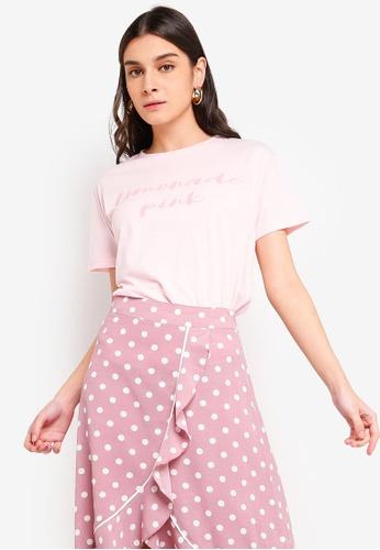 ZALORA pink Slogan Tee D9FB4AA27C0CB8GS_1