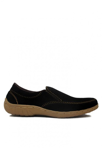 D-Island black D-Island Shoes Slip On Chukka Suede Leather Black DI594SH76UWLID_1