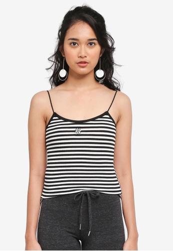 TOPSHOP black Daisy Striped Vest 11773AA2542CE7GS_1