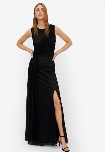 Mango black Lace Detail Gown 1CA21AA18DCB15GS_1