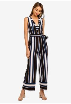 e7e1ece64c4e 50% OFF Miss Selfridge Petite Multi Stripe Jumpsuit RM 299.00 NOW RM 149.50  Available in several sizes