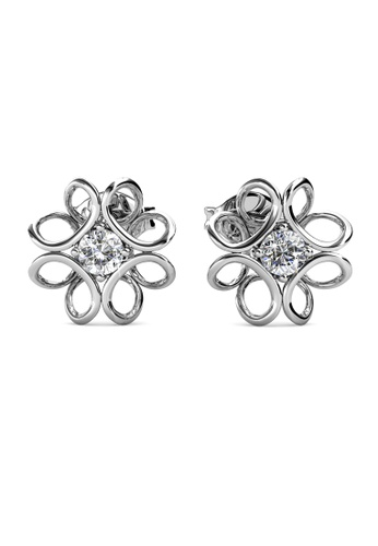 Her Jewellery silver Daffodil Earrings -  Made with premium grade crystals from Austria HE210AC0GRCMSG_1