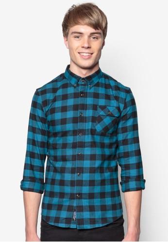 單口袋格紋長袖襯衫, 服飾, esprit 評價格紋襯衫