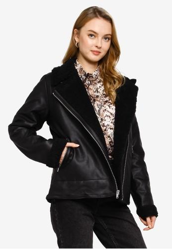 Hollister 黑色 皮革夾克 85AD1AA62AEA71GS_1