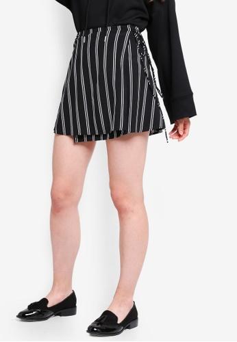 Something Borrowed black Side Tie Mini Skirt 8C3D0AA1D8113BGS_1