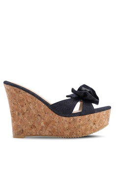 b9cc649b224 Heatwave blue Wedge Sandals 7CD53SHEBA8614GS 1