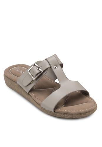 露趾扣環涼鞋esprit 品牌, 女鞋, 涼鞋