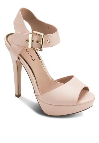 Ulaeven 露zalora 男鞋 評價趾繞踝高跟鞋, 女鞋, 細帶高跟鞋