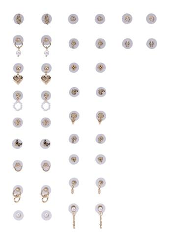 ALDO white Cirajan Mega Pack Stud Earrings FD703ACD6B2580GS_1