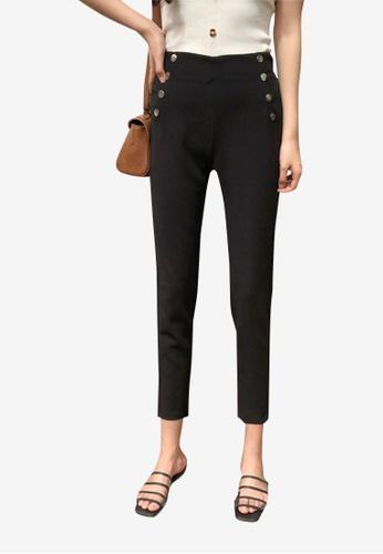 Lara black Women's Slim Fit Pants AB8A5AAFB2FE37GS_1
