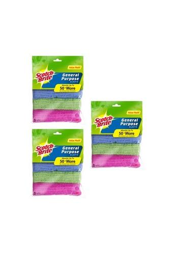 Scotch-Brite 3M Scotch Brite General Purpose Cloth Value Pack [MFGen-5pcs] [Bundle of 3] 80F1AHL8AC593EGS_1