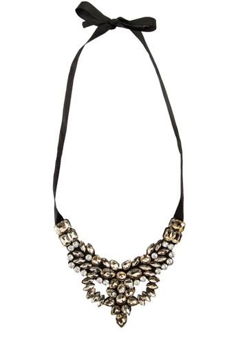 珠寶閃鑽蝴蝶esprit 澳門結繫帶項鍊, 飾品配件, 項鍊