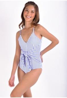 57bf9e781a4 Coral Swimwear white and blue NAMI One Piece Swimsuit 15206US6D0DB03GS_1