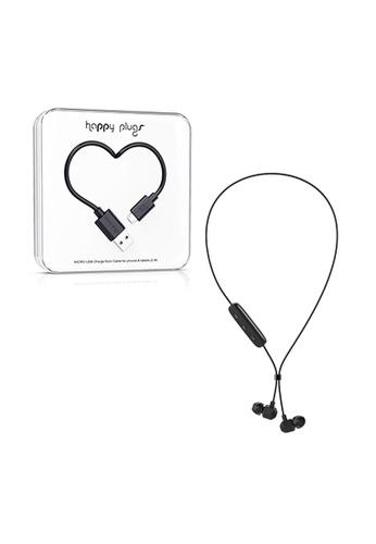 happy plugs black Happy Plugs Ear Piece Wireless - Sapphire Black + Happy Plugs Lightning to USB Charge/Sync Cable (2.0m) - Black 5F9BFAC42C5153GS_1