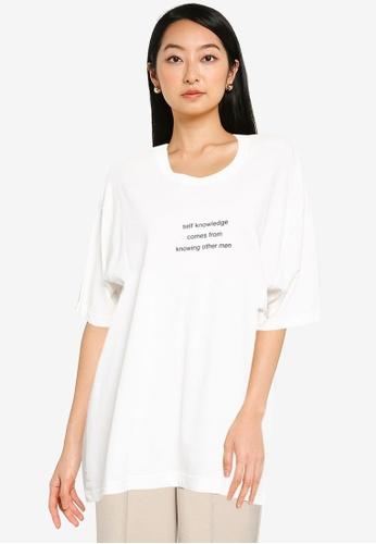 JEANASIS white Graphic T-Shirt 142A1AAD469F0CGS_1