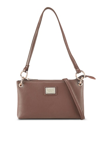 Perllini&Mel brown Faux Leather Shoulder/Sling Bag AA05FAC7C08EF3GS_1