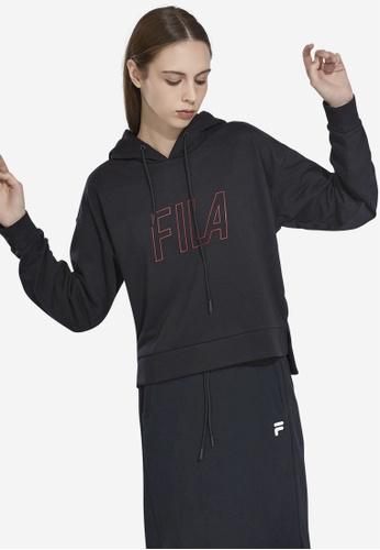 FILA black Korea Collection FILA Logo Hoodie 35785AACE6DB31GS_1