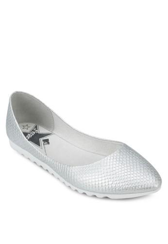 動物zalora 泳衣紋尖頭平底鞋, 女鞋, 鞋