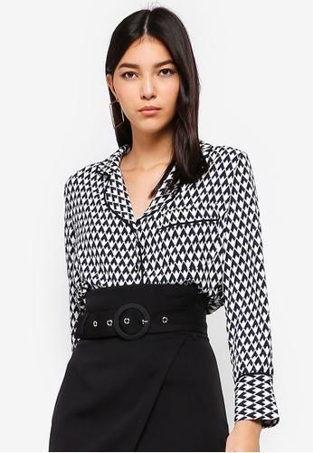 ZALORA black and multi Contrast Piping Shirt 7DD3AAA90FFA55GS_1