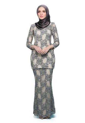 Kurung Lenora from Seri Maharani in Grey