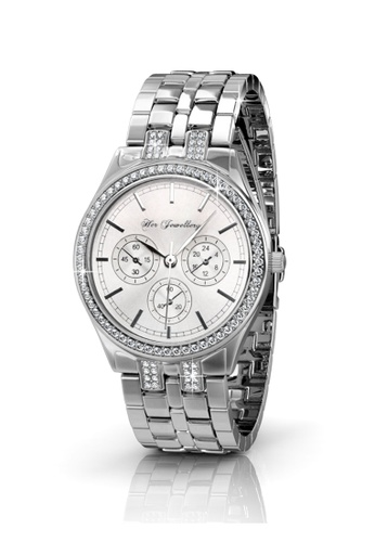 Her Jewellery silver Her Jewellery Lush Watch (White) with Premium Grade Crystals from Austria 9E73AAC24E65FDGS_1
