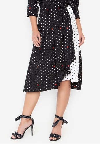 Wear Kris black and white Kelly Dotted Woven Skirt 08638AAFAC1BD6GS_1