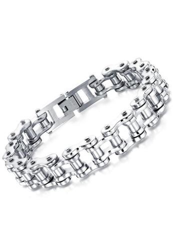 Trendyshop silver Men's Bracelet 7ADDAAC743D3D3GS_1