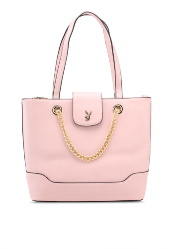 PLAYBOY BUNNY pink Playboy Bunny Ladies Handbag C3775ACCED2EC0GS_1