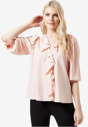Dorothy Perkins pink Blush Ruffle Shirt 4934DAA524337FGS_1