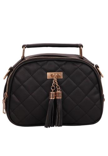 Quincy Label black Gizelle Mj Sling Bag Wanita Kotak3- Hitam 59583AC7B57800GS_1