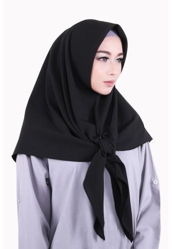 Zelena Shaylee Hijab Square - Black Jade