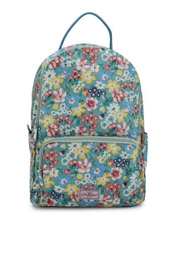 Cath Kidston green Portland Flowers Pocket Backpack 3F2CFACD2C0225GS_1