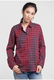 Osella baju perempuan kemeja lengan panjang Kotak kotak Red  BB22CAA0572122GS 1 a8252b9eb1