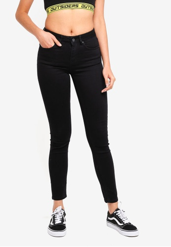 Factorie black The Mid-Rise Skinny Jeans 5532BAAD99E09CGS_1