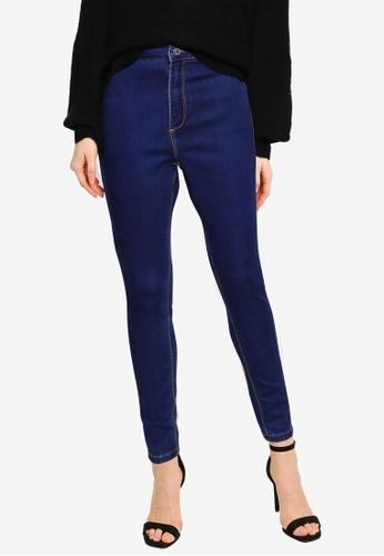 MISSGUIDED blue Tall Vice High Waist Skinny Jeans 9FC82AA7B781ECGS_1