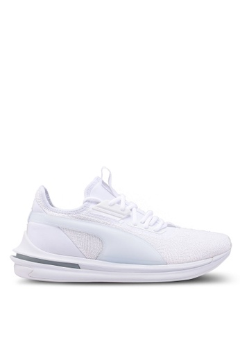 Puma white Ignite Limitless SR-71 Running Shoes 801A7SHD74A303GS_1