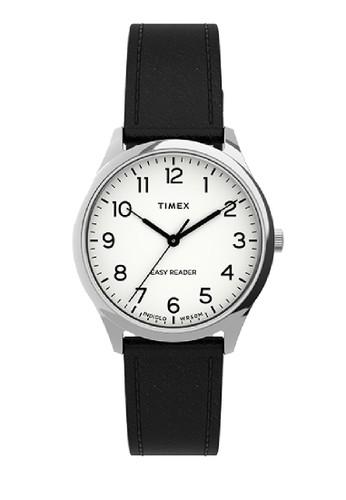 TIMEX multi Women Easy Reader 32mm Silver tone Case Black Leather Strap TW2U21700 C1795AC27D5E94GS_1