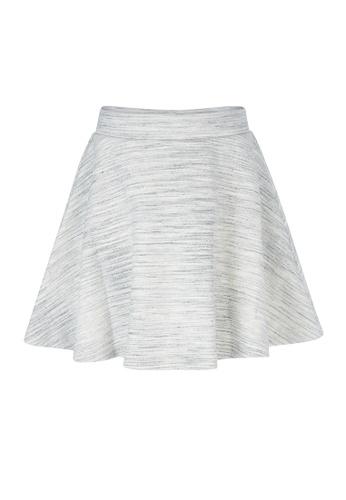 Gen Woo grey Grey Marl Skater Skirt 24E62KA8FB80F4GS_1