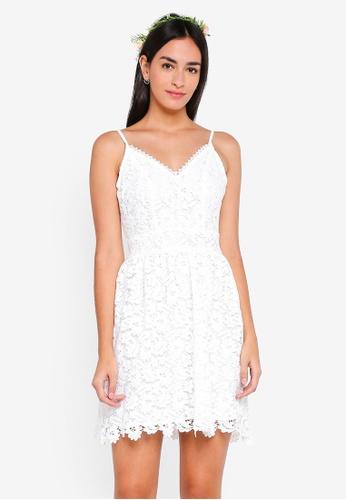 ZALORA white Bridesmaid Fit And Flare Crochet Lace Dress C51F9AA95C8898GS_1