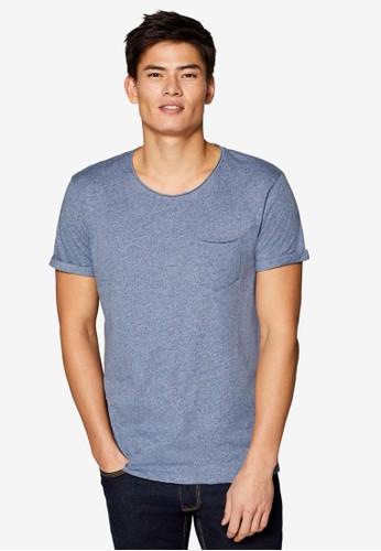 ESPRIT navy Jersey Pocket T-Shirt F20CCAA4F201A0GS_1