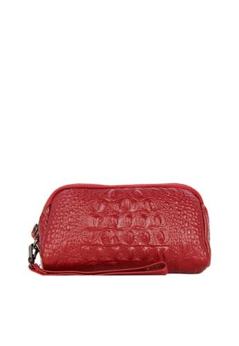 HAPPY FRIDAYS Zipper Crocodile Texture Leather Wallet JN301 1F098AC8F81CD7GS_1