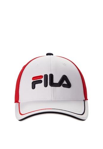 FILA white FILA KIDS FILA Logo Caps 565FEKCE1F3568GS_1