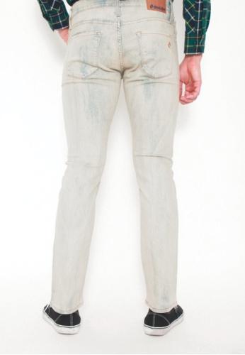 44cadfac4d1 Buy DENIZEN Men Slim Straight Denim Jeans White Marble Online ...