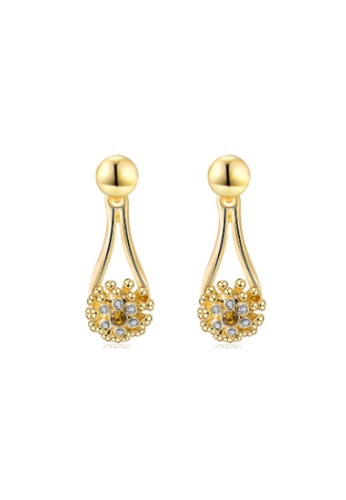 Kings Collection gold Austrian Crystal Gold Drop Earrings 459D7AC98F2592GS_1