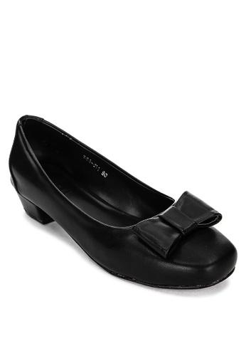 Janylin black Squared-toe Pumps 1543FSHF872D7EGS_1